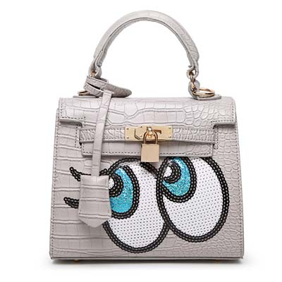 6596 Playnomore Popular Handbag (Grey)