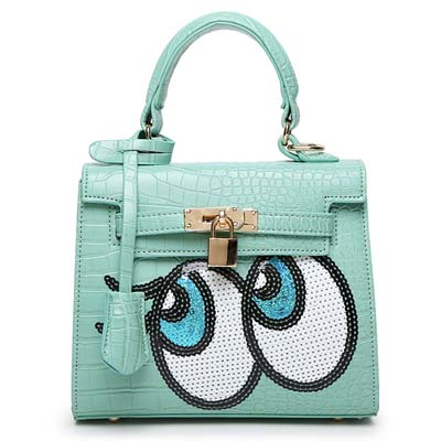 6596 Playnomore Popular Handbag (Green)