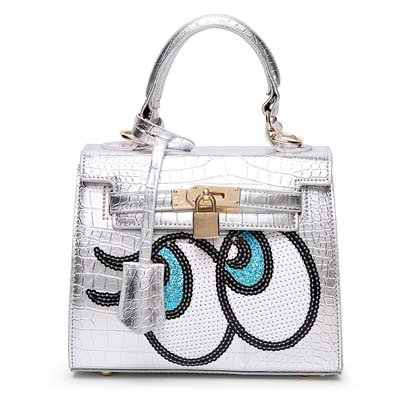 6596 Playnomore Popular Handbag (Silver)