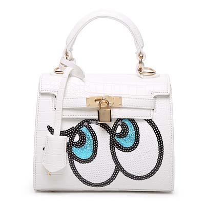 6596 Playnomore Popular Handbag (White)