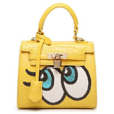 6596 Playnomore Popular Handbag (Yellow)