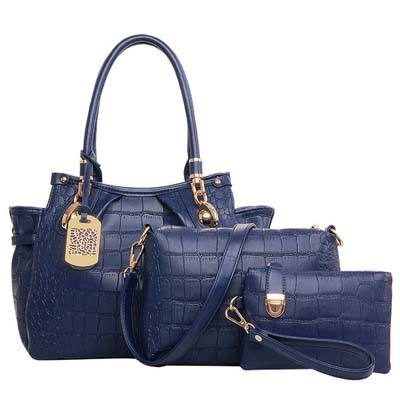 6598 Fashion 3 in 1 Bag (Dark Blue)