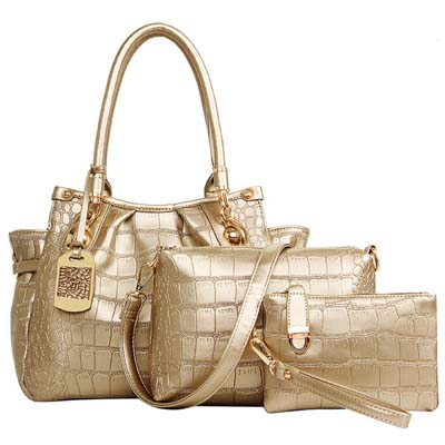 6598 Fashion 3 in 1 Bag (Gold)