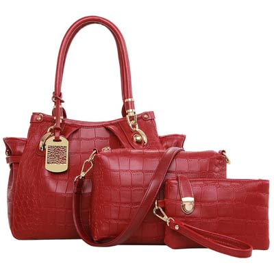 6598 Fashion 3 in 1 Bag (Red)