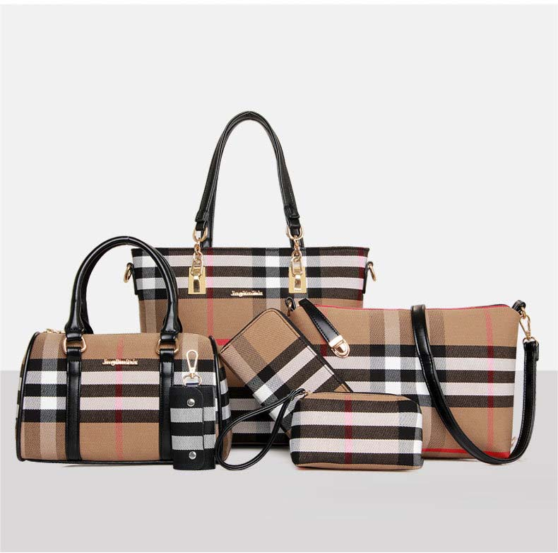 6600 Classic Pattern 6 in 1 Bag (Black)