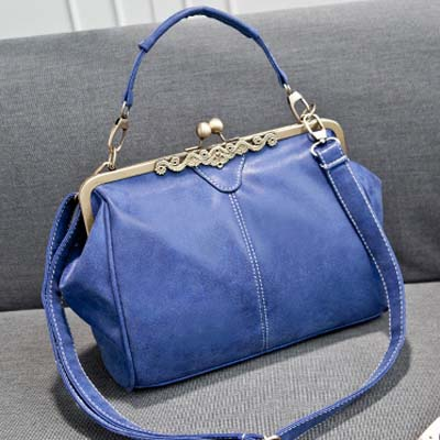 6657 Suede Leather Sling Bag (Blue)