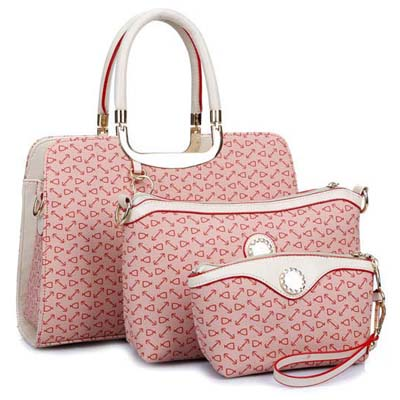 6681 Elegant 3 in 1 Handbag (Pink)