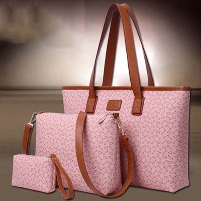 6696 Fashion 3 in 1 Bag (Pink)