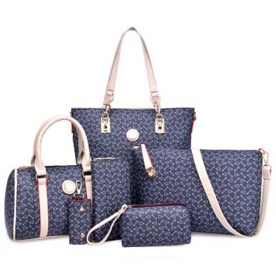 6708 Fashion 6 in 1 Bag (Dark Blue)