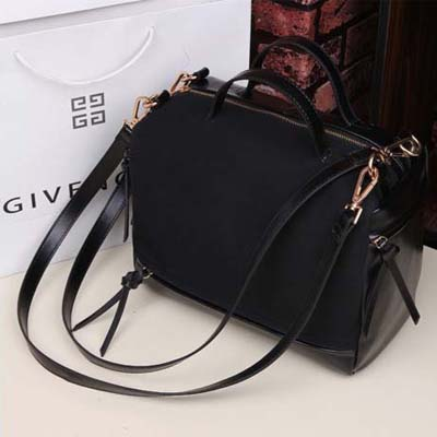 6719 Elegant Suede Leather Sing Bag (Black)