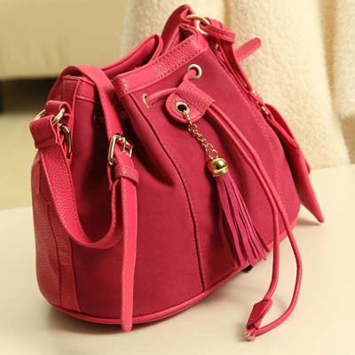 YoYOo Suede Leather Sing Bag (Red)
