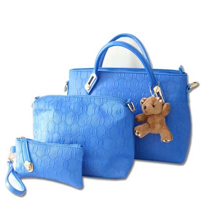 Fashion 3 in 1 Bag With Bear (Blue)