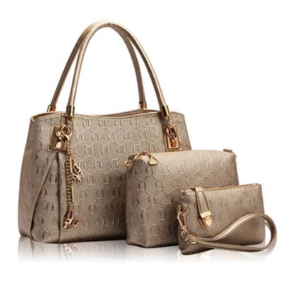 6836 Elegant 3 in 1 Handbag (Gold)