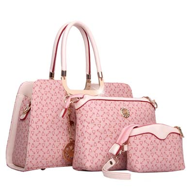 6840 Elegant 3 in 1 Handbag (Pink)