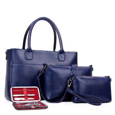 Fashion 4 in 1 Handbag (Blue)