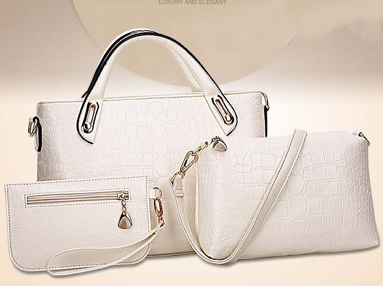 Fashion 3 in 1 Handbag (White)