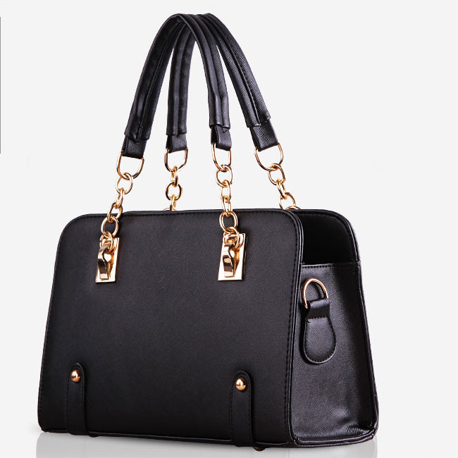 YoYOo Fashion Elegant OL Handbag (Black)