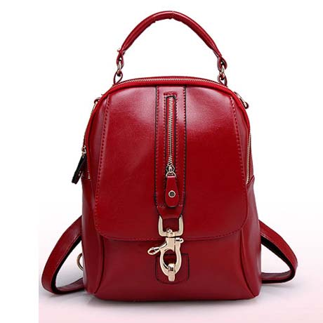 YoYOo Fashion 3 Ways Backpack (Red)