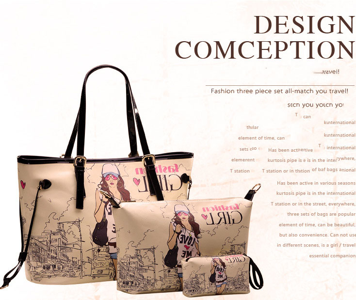 YoYOo Fashion Girl 3 in 1 bag (online shopping malaysia)
