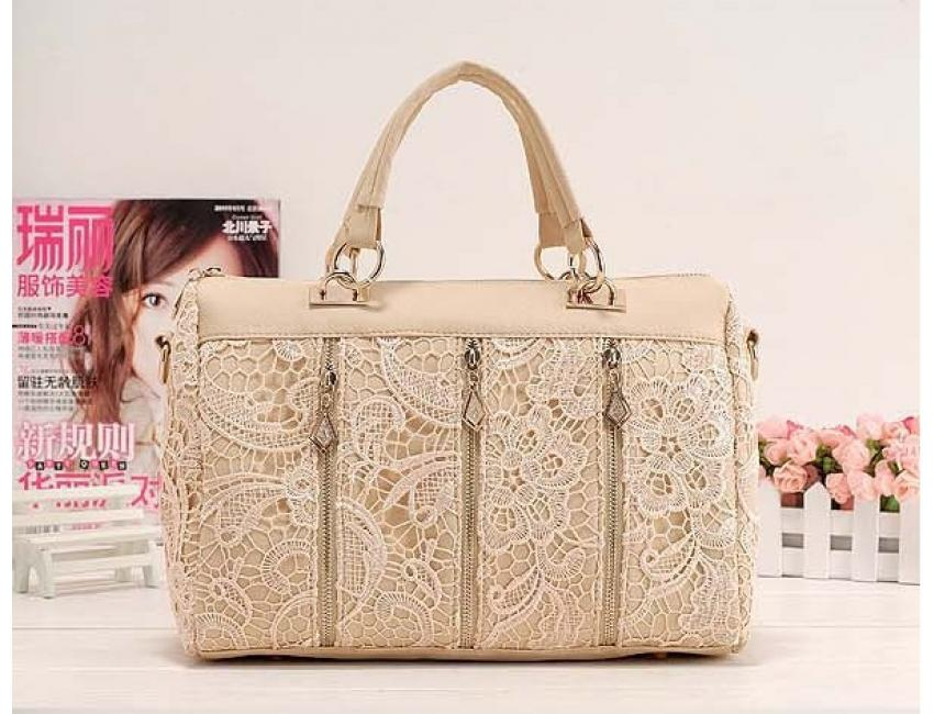 1031 YoYOo FASHION STYLE LACE BAG (Almond)
