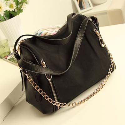 7313 YoYOo Suede Leather Sing Bag (Black)