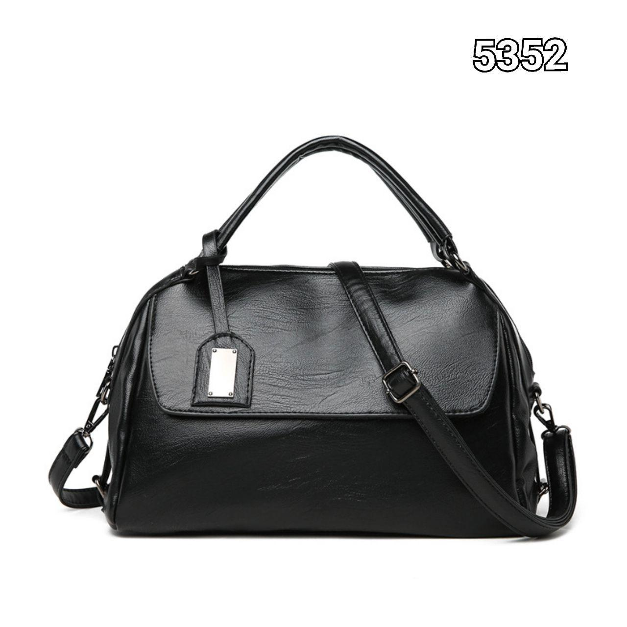 5352 Simple Casual Handbag (Black)