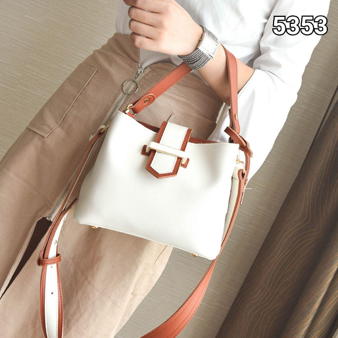 5353 Hotdemand Simple Casual Handbag (Brown)