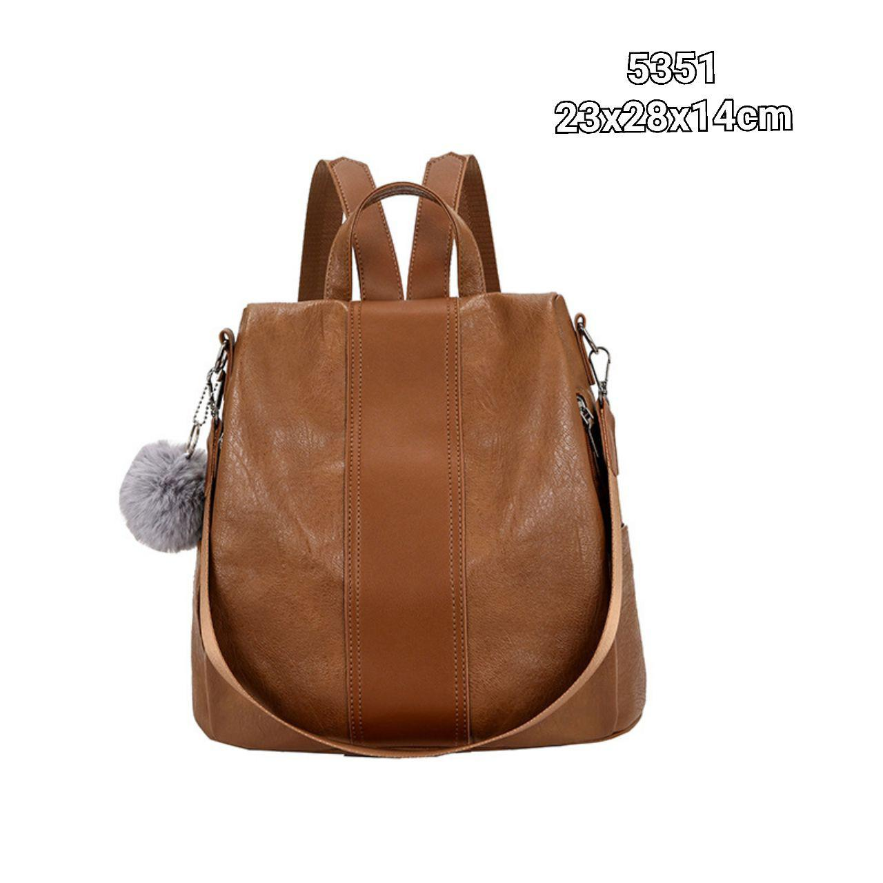 5351 Simple Backpack without Furball (Brown)